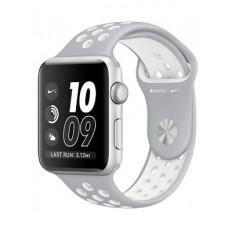 Apple Watch Nike+ 38mm Silver Aluminum Case with Silver/White Nike Sport Band (MNNQ2) - Новый распечатанный