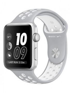 Apple Watch Nike+ 42mm Silver Aluminum Case with Silver/White Nike Sport Band (MNNT2) - Новый распечатанный