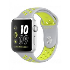 Apple Watch Nike+ 38mm Silver Aluminum Case with Flat Silver/Volt Nike Sport Band (MNYP2) - Новый распечатанный