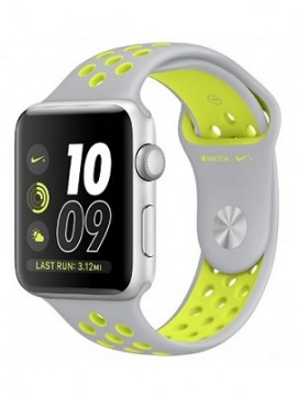 Apple Watch Nike+ 38mm Silver Aluminum Case with Flat Silver/Volt Nike Sport Band (MNYP2) - Новый распечатанный